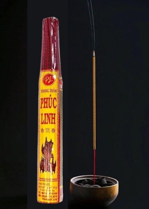 Nhang Trầm Hương PHÚC LINH Nhãn Vàng đậm_38cm_250gr