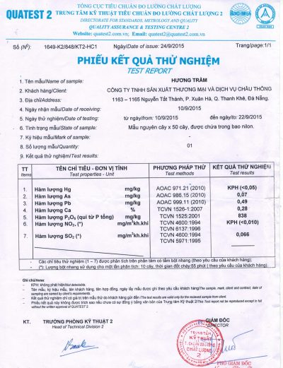 Bang Test Nhang Nu Phuc Linh thanh phan huu co