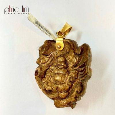 Mặt Dây Chuyền Trầm Hương Bọc Vàng 2p5 PHÚC LINH