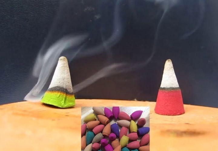 Nụ Tẩm Hương Liệu nhuộm lên các màu sắc rất rực rỡ. Khi chưa được đốt lên các sản phẩm đã có mùi hương rõ rệt. Khi đốt lên mùi hương còn mạnh, nồng và gây hại đến cho người dùng nếu ngửi lâu dài.