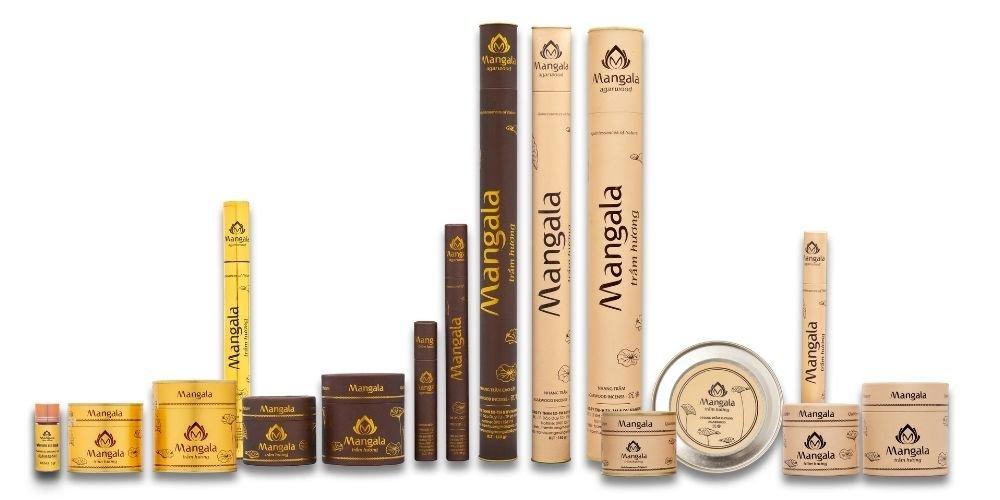 Các sản phẩm Nhang Nụ Trầm Hương Cao Cấp Mangala.