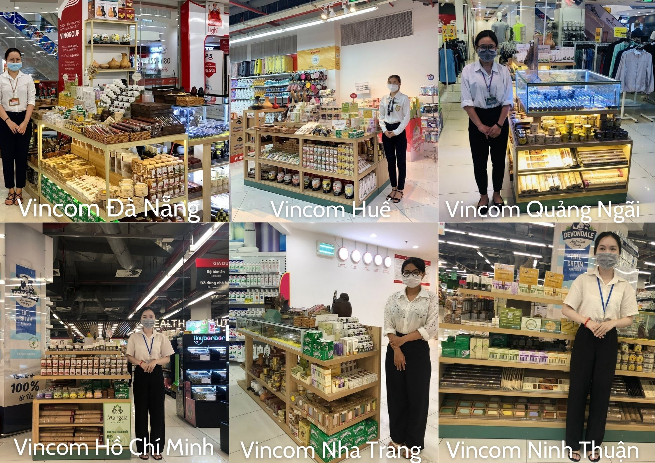 Một số cửa hàng Trầm Hương Phúc Linh tại siêu thị Vinmart ở một số tỉnh thành.