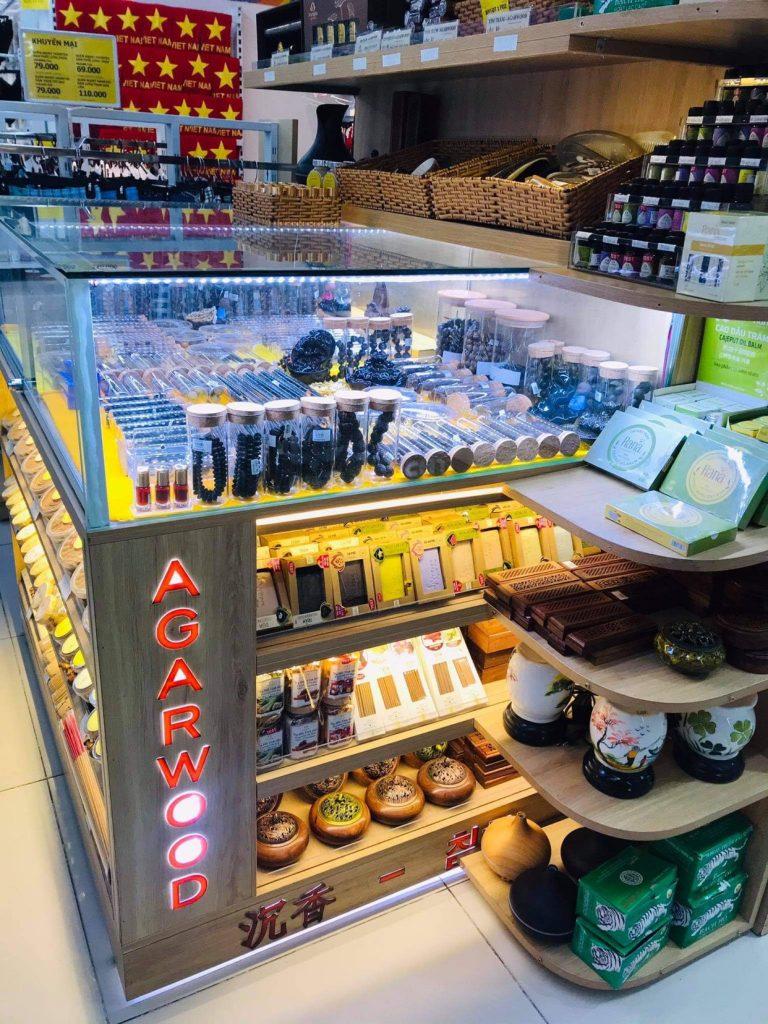 Mua Trầm Hương tại Nha Trang - Quầy hàng trong siêu thị Vinmart tầng 2 - TTTM Vincom Trần Phú Nha Trang