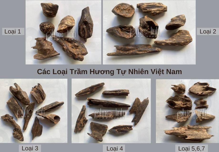 Trầm hương tự nhiên Viejt Nam từ độ 1 đến 7